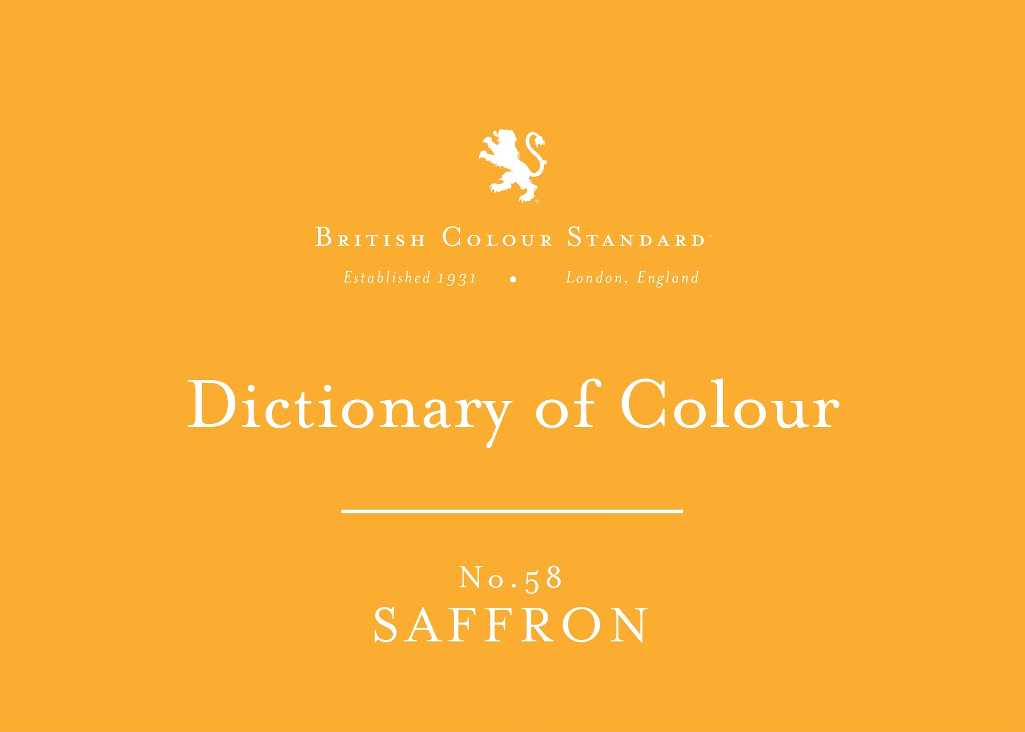 BRITISH COLOUR STANDARD - Saffron No. 58