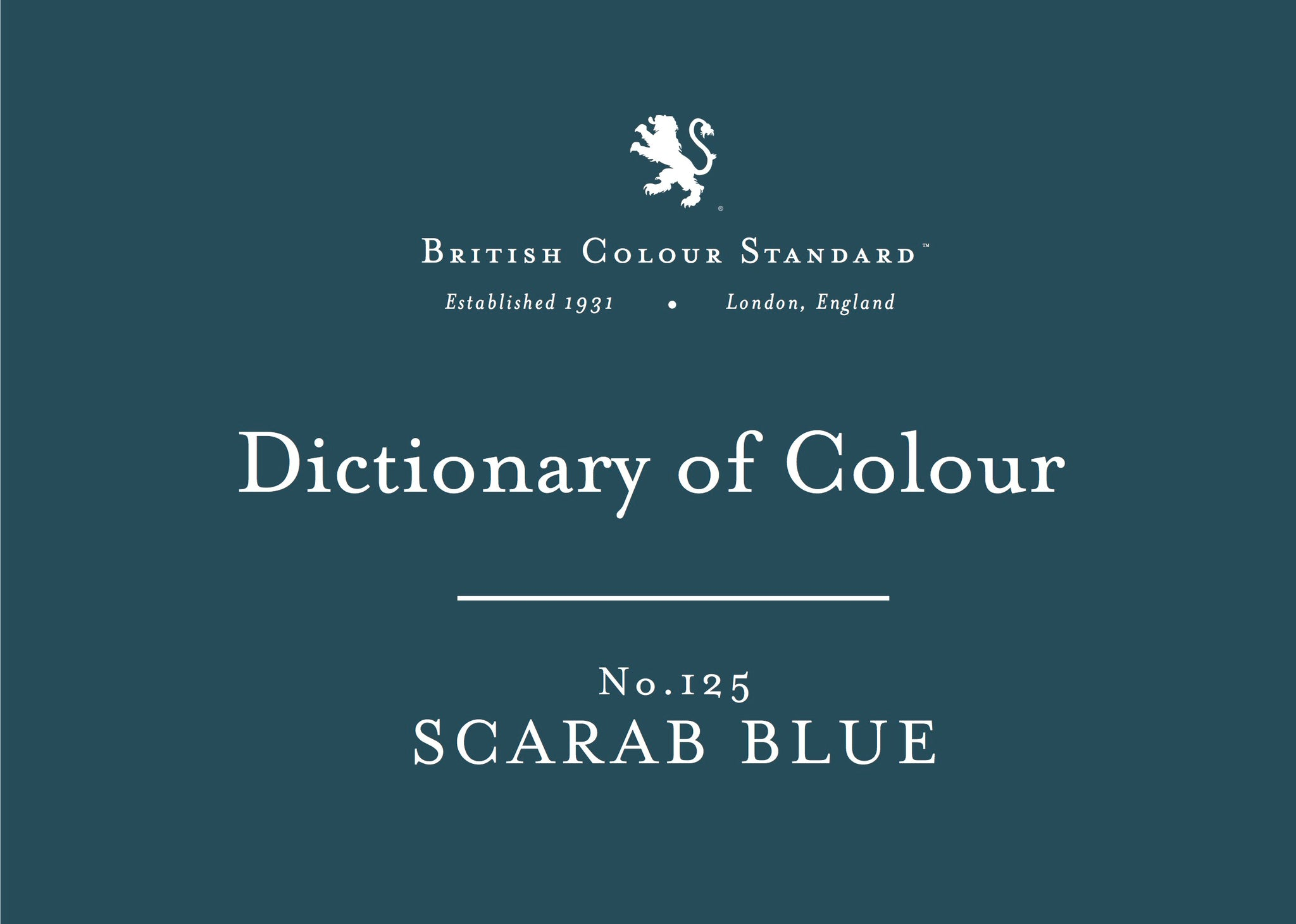 BRITISH COLOUR STANDARD - Scarab Blue No. 125