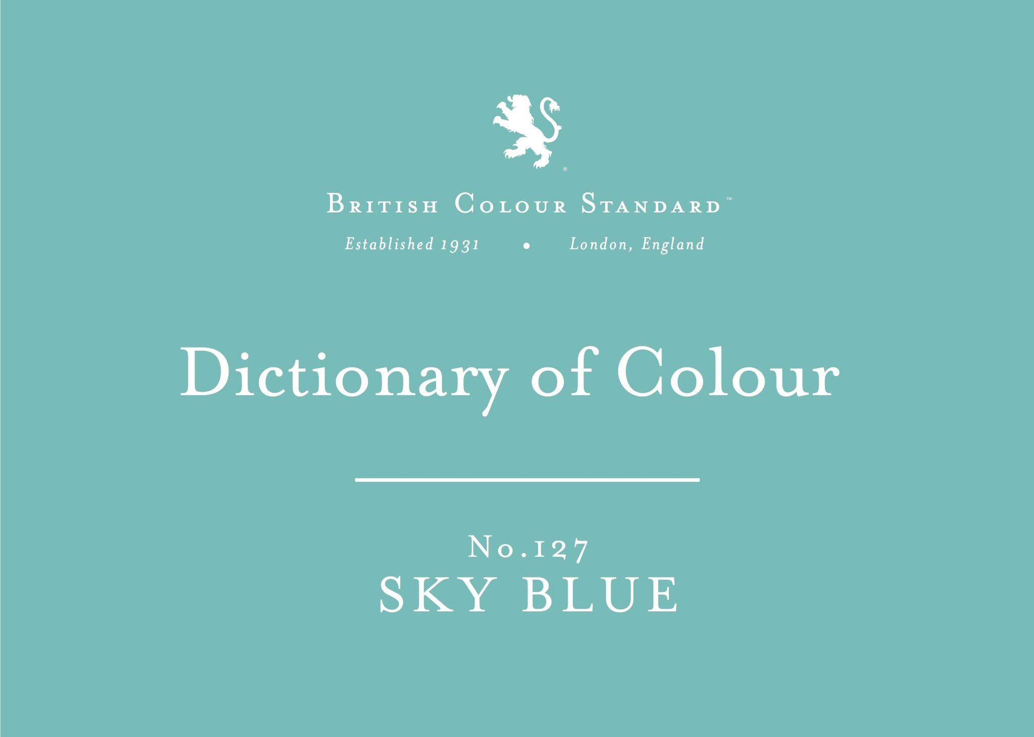 BRITISH COLOUR STANDARD - Sky Blue No. 127