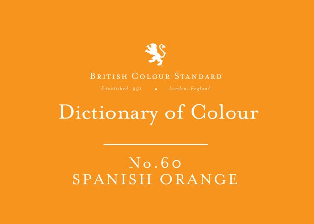 BRITISH COLOUR STANDARD - Spanish Orange No. 60