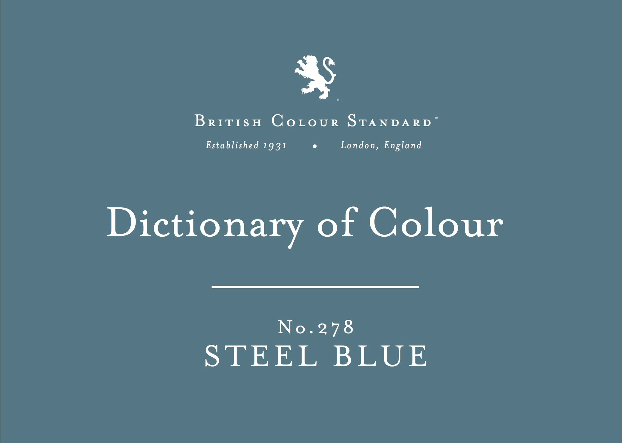 BRITISH COLOUR STANDARD - Steel Blue No. 278