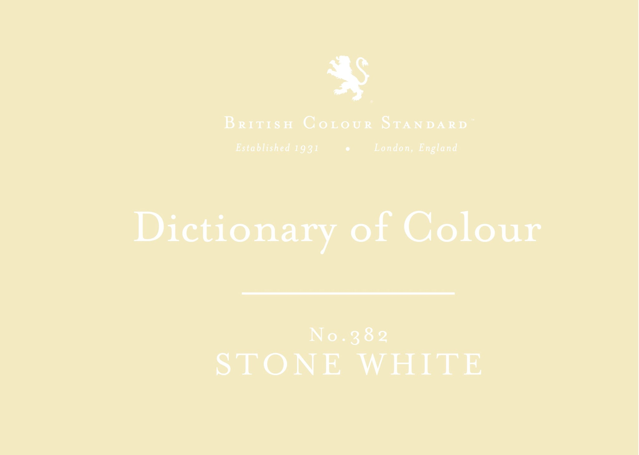 BRITISH COLOUR STANDARD - Stone White No. 382