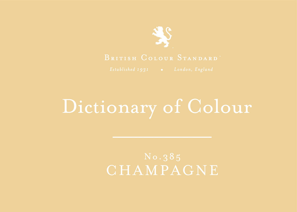 BRITISH COLOUR STANDARD - Champagne No. 385