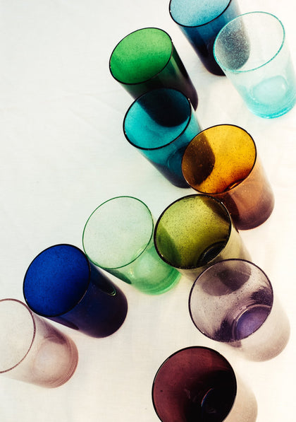 British Colour Standard recycled coloured glass, handmade by artisans