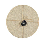 BRITISH COLOUR STANDARD - 27 cm D Jute Placemats in Pearl White/Natural, Tied Set of 4