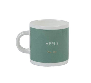 British Colour Standard BCS Apple Green Espresso Coffee cup, White Bone China,