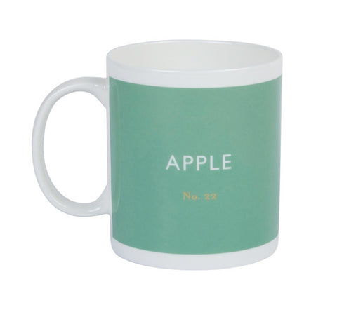 British Colour Standard BCS Apple Green Mug, White Bone China, made in UK