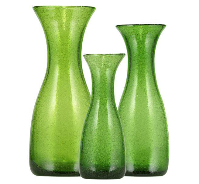BRITISH COLOUR STANDARD -  Handmade Recycled Glass Carafes Apple Green
