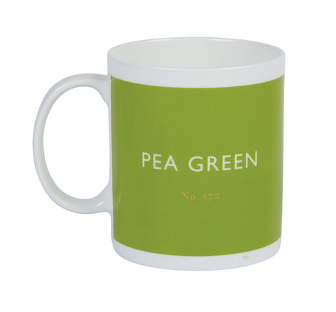 British Colour Standard Pea Green White Bone China Mug