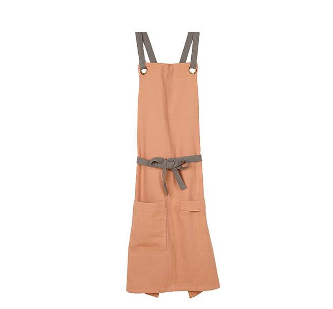 British Colour Standard Barista-Style Apron in Old Rose