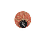 BRITISH COLOUR STANDARD - Jute Coasters in Tangerine/Natural,Tied Set of 4