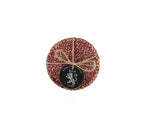 BRITISH COLOUR STANDARD- Jute Coasters in Guardsman Red/Natural set of 4