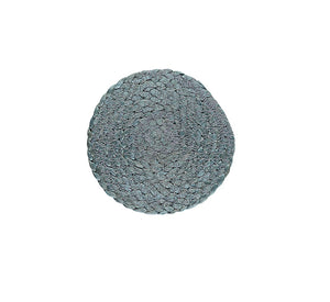 BRITISH COLOUR STANDARD Silky Jute Coasters in Moonstone Grey, set of 4