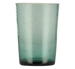 BRITISH COLOUR STANDARD - French Turquoise Amulet Handmade Glass Tumbler
