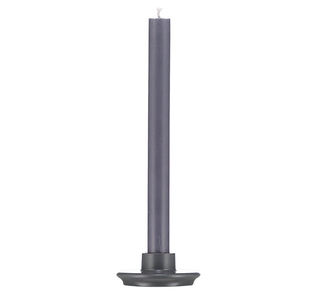 BRITISH COLOUR STANDARD Small Gunmetal Grey Candleholder