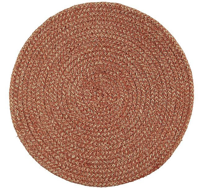 BRITISH COLOUR STANDARD- Jute Placemats in Brick Dust/Natural, tied set of 4
