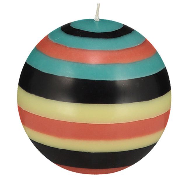 BRITISH COLOUR STANDARD - Large Eco Ball Candle - Honey Bird, Jet, Jasmine & Rust