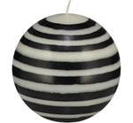 BRITISH COLOUR STANDARD - Large Eco Ball Candle - Jet and Pearl.