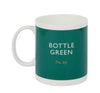 British Colour Standard BCS Bottle Green Mug, White Bone China,