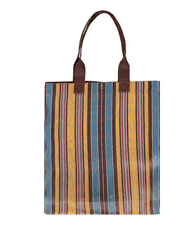 Farmers Market Shopper in Indian Yellow, Saxe Blue & Rose Beige