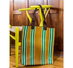 Farmers Market Shopper in Spanish Orange & Grass Green