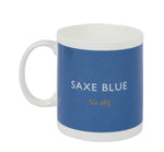 British Colour Standard BCS Saxe Blue, White Bone China, Made in UK