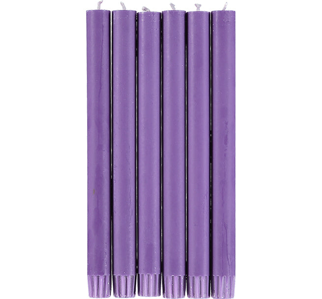 BRITISH COLOUR STANDARD - Doge Purple Eco Dinner Candles, 6 per pack