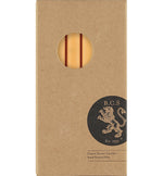 BRITISH COLOUR STANDARD - Saffron Yellow Eco Dinner Candles, 6 per pack