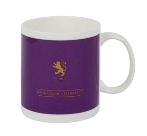 British Colour Standard BCS Royal Purple, White Bone China, Made in UK