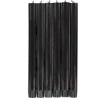 BRITISH COLOUR STANDARD - Jet Black Eco Dinner Candles, 6 per pack