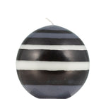 BRITISH COLOUR STANDARD - Small Eco Ball Candle - Jet Black, Pearl White & Dove Grey
