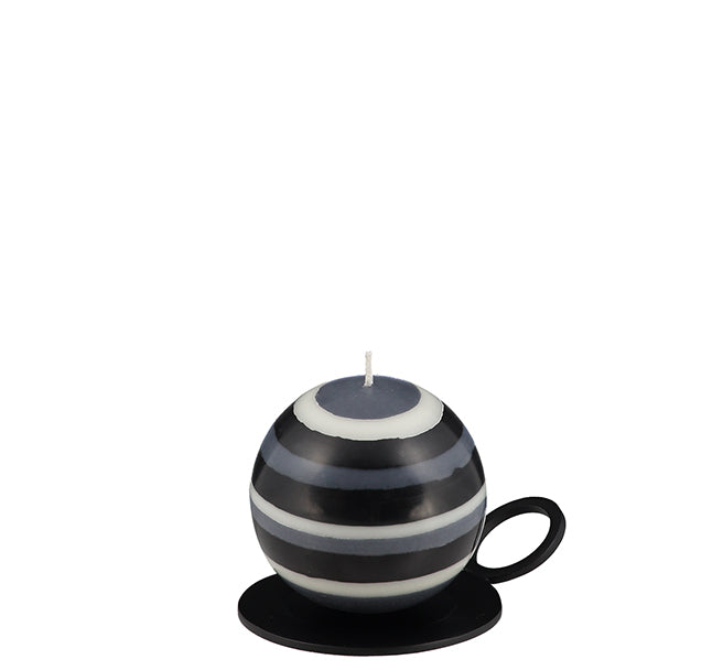 NEW! BRITISH COLOUR STANDARD - Metal Candle Plate Ridge Style - Jet Black