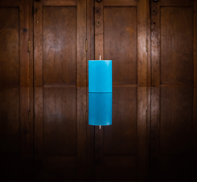 BRITISH COLOUR STANDARD - Petrol Blue Eco Pillar Candle