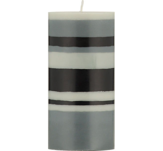 BRITISH COLOUR STANDARD - Gull, Gunmetal and Jet Eco Pillar Candle