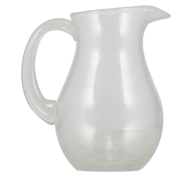BRITISH COLOUR STANDARD - Pearl White Handmade Glass Jug
