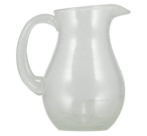 BRITISH COLOUR STANDARD Pearl White Handmade Glass Jug