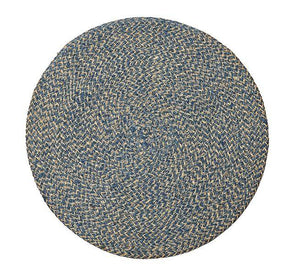 British Colour Standard Jute Placemat Cornflower blue tied set of 4