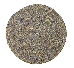 British Colour Standard Jute Placemat Gull Grey tied set of 4