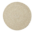 British Colour Standard Jute Placemat Pearl White tied set of 4
