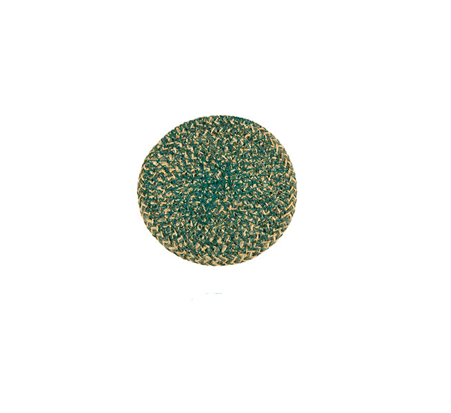 BRITISH COLOUR STANDARD- Jute Coasters in Olive Green/Natural tied set of 4