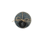 BRITISH COLOUR STANDARD - Jute Coasters in Cornflower/Natural tied set of 4