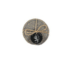 BRITISH COLOUR STANDARD - Jute Coasters in Gull Grey/Natural tied set of 4