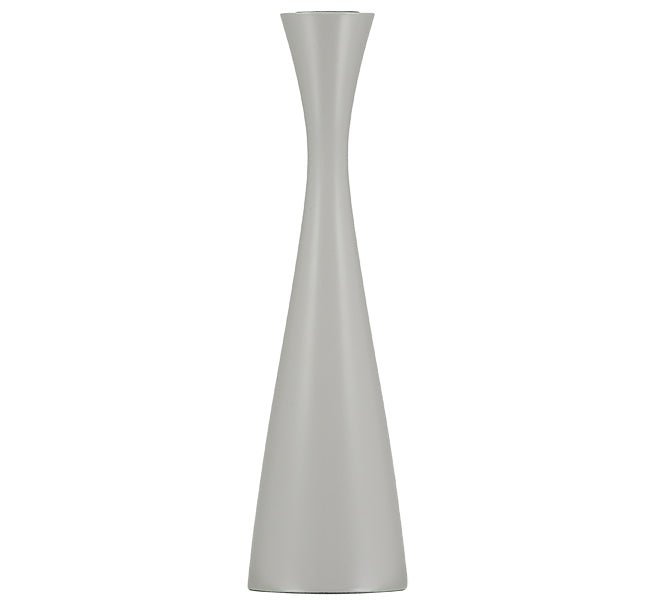 BRITISH COLOUR STANDARD Tall Gull Grey Candleholder