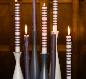 BRITISH COLOUR STANDARD Tall Jet Black Candleholder