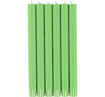 BRITISH COLOUR STANDARD - Grass Green Eco Dinner Candles, 6 per pack
