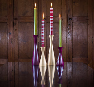 BRITISH COLOUR STANDARD- Tall Old Gold Candleholder