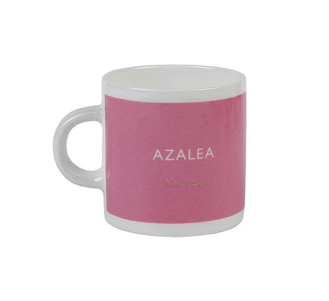 British Colour Standard BCS Azalea Pink Espresso Coffee cup, White Bone China,