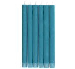 BRITISH COLOUR STANDARD - Petrol Blue Eco Dinner Candles, 6 per pack