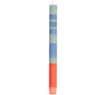 BRITISH COLOUR STANDARD - Striped Opaline, Pompadour & Rust Eco Dinner Candles, 4 per pack