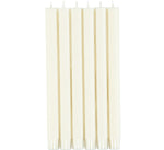 BRITISH COLOUR STANDARD - Pearl White Eco Dinner Candles, 6 per pack